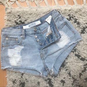 Melville • High Waist Button Fly Shorts